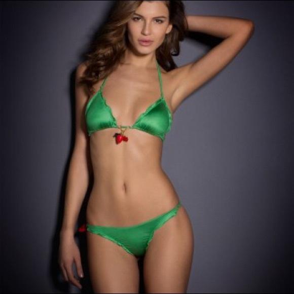 c18890601a Agent Provocateur green Berry Bikini (2 pcs) NWT